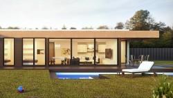projekty domů s rovnou střechou